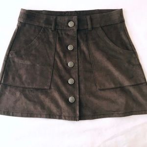 AMERICAN EAGLE OUTFITTERS WOMEN'S BROWN MINI SKIRT